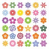ustawić symbole kwiat Zdjęcie Stock