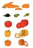 ustawić warzywa ilustracji