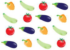 ustawić warzywa Obrazy Stock