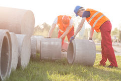 Ustawiać betonów okręgi Zdjęcie Stock