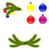 ustawiać Boże Narodzenie dekoracje Fotografia Stock