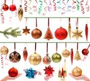 ustawiać Boże Narodzenie dekoracje Obraz Royalty Free