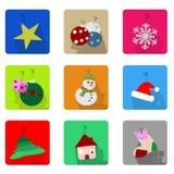 ustawiać Boże Narodzenie ikony Obraz Royalty Free