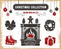 ustawiać Boże Narodzenie ikony Obrazy Royalty Free