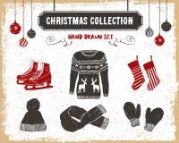 ustawiać Boże Narodzenie ikony Fotografia Stock
