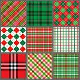 ustawiać Boże Narodzenie szkockie kraty Obraz Stock