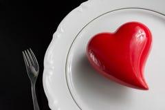 Ustawiać dla valentine& x27; s dnia romantyczny gość restauracji Odgórny widok Przestrzeń dla Obrazy Royalty Free