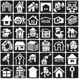 ustawiać element ikony graficzne domowe ilustracji