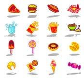 ustawiać fast food ikony Fotografia Stock