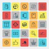 ustawiać handel elektroniczny ikony Kolekcja Polecający, Powtarza się Payements, młoteczek I Innych elementy, Także Zawiera symbo royalty ilustracja