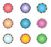 Ustawiać kolorowe śmieszne etykietki Obraz Stock