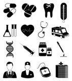 ustawiać opiek zdrowotnych ikony Obraz Stock
