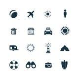 ustawiać plażowe ikony Fotografia Royalty Free