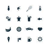 ustawiać plażowe ikony Obrazy Stock
