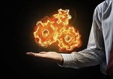 Ustawiać pożarniczą ikonę Zdjęcie Royalty Free