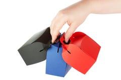 ustawiać pudełko ręki Obraz Stock