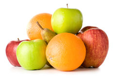 ustawiać różne owoc Zdjęcia Royalty Free