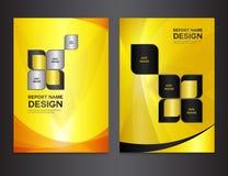 Ustawia żółtego Okładkowych szablonów projekt Obrazy Royalty Free