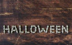 Ustawia abecadło listy od metal czaszek - Halloween Zdjęcie Royalty Free