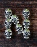 Ustawia abecadło listy od metal czaszek - Halloween Zdjęcia Royalty Free