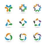 Ustawia abstrakcjonistycznych kształty Obraz Stock