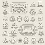 Ustawia arabeskowego loga emblemat, ornamentacyjnego Fotografia Stock
