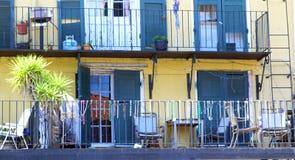 Ustawia architekturę dzielnica francuska w Nowy Orlean, Luizjana Obrazy Royalty Free
