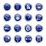 Ustawia auto logo, odznaka, emblemat lub logotyp dla mechanika, samochód ponowny Fotografia Stock