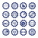 Ustawia auto logo, odznaka, emblemat lub logotyp dla mechanika, samochód ponowny Obrazy Stock