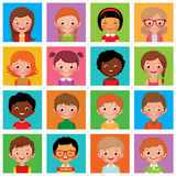 Ustawia avatars dziewczyny i chłopiec Obraz Royalty Free