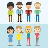 Ustawia avatars mężczyzna i kobiety różna różnorodność ilustracji