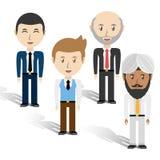 Ustawia avatars mężczyzna różna różnorodność nad białym tłem ilustracja wektor