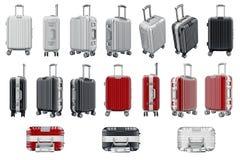 Ustawia bagaż podróż Zdjęcie Royalty Free