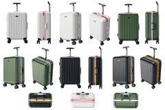 Ustawia bagaż podróż Fotografia Royalty Free