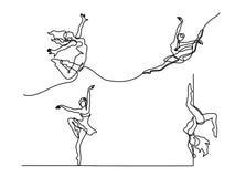 Ustawia baletniczego tancerza baleriny royalty ilustracja