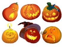 Ustawia banie dla Halloween na białym tle Obraz Stock