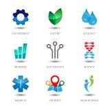 ustawiać barwione ikony Zdjęcia Royalty Free