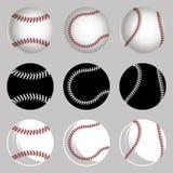 Ustawia baseball piłki Obraz Royalty Free