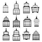 Ustawia birdcages inkasowych ilustracji