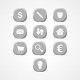 Ustawia biznesową sieci ikonę Zdjęcia Royalty Free