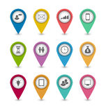 Ustawia biznesowe infographics ikony dla projekt strony internetowej układu Zdjęcia Stock