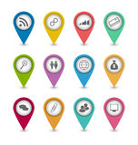 Ustawia biznesowe infographics ikony dla projekt strony internetowej układu Zdjęcia Royalty Free