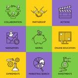 Ustawia biznesowego loga Obrazy Stock