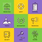 Ustawia biznesowego loga Fotografia Stock