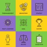 Ustawia biznesowego loga Obraz Royalty Free