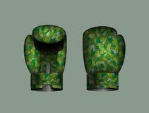 Ustawia bokserskie rękawiczki militarne również zwrócić corel ilustracji wektora 10 eps Fotografia Stock