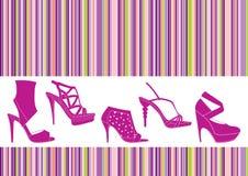 ustawia buty Obrazy Stock