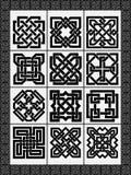 Ustawia celtów tradycyjnych znaki ilustracja wektor