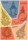 Ustawia charaktery Ramayana ilustracji