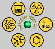 ustawiać chemii ikony Zdjęcie Stock